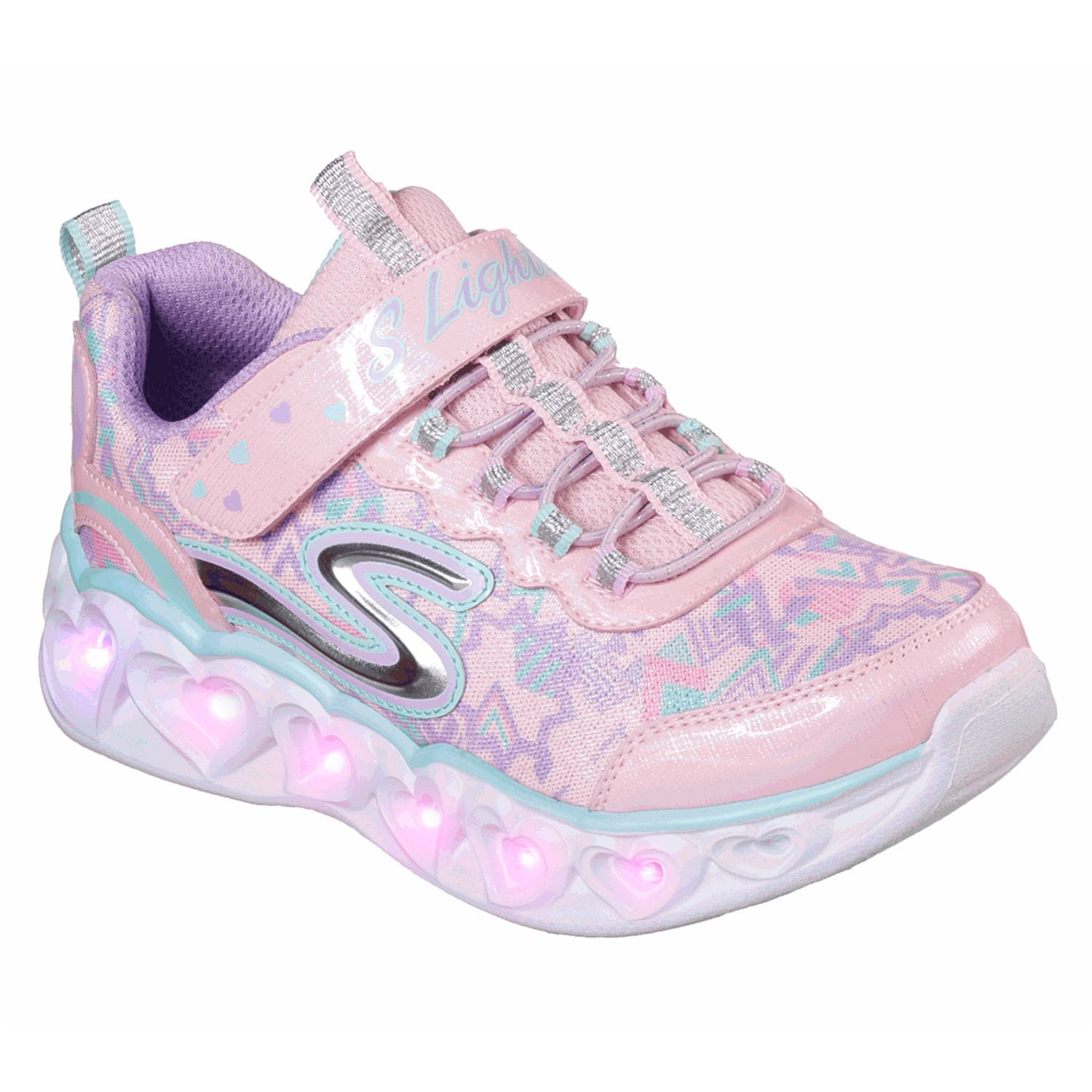 venta oficial brillante en brillo colores delicados Casual de Niña Skechers Rosado s lights: heart lights ...