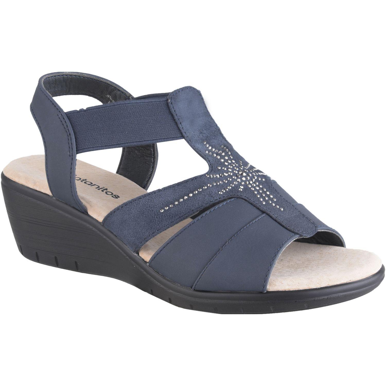 Platanitos Sandalia Dama Comfort Sct 5146 Azul Plataformas y cuñas