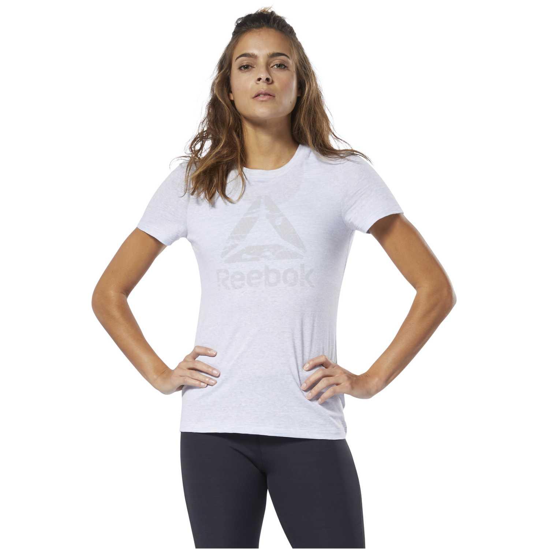 Reebok Te Marble Logo Tee Blanco Polos