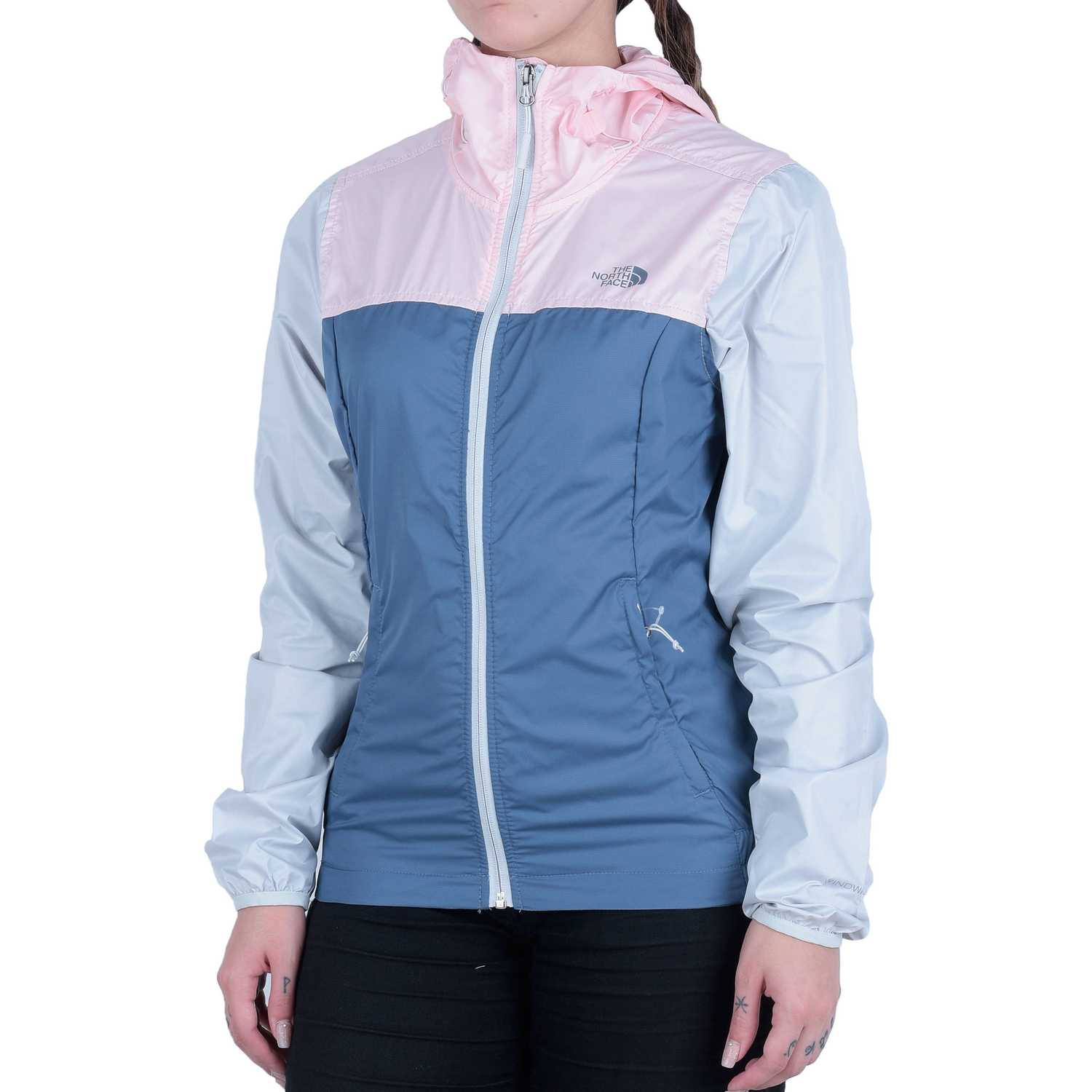The North Face w cyclone jacket Acero / rosado Viento y Lluvia