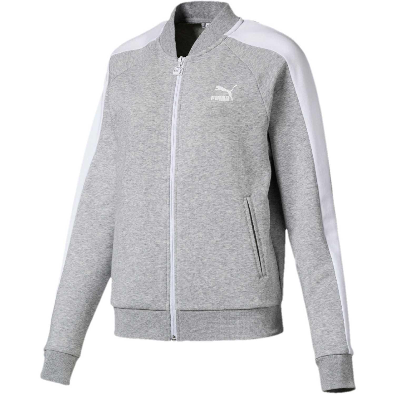 Puma classics t7 track jacket ft Gris / blanco Pullovers