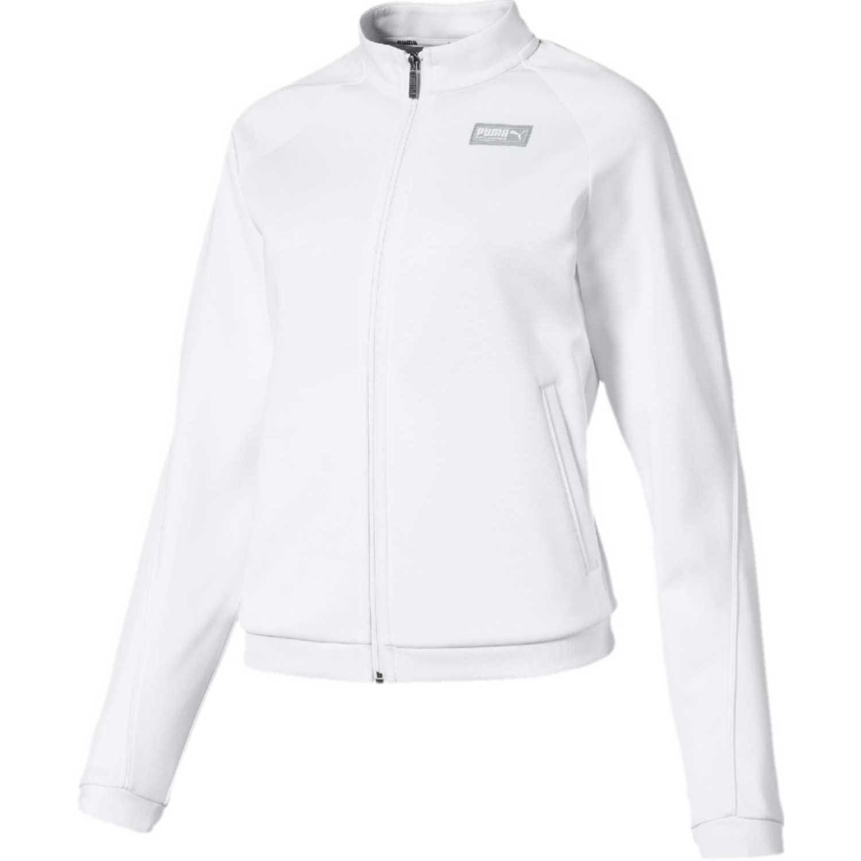 Polera de Mujer Puma Blanco fusion track jacket