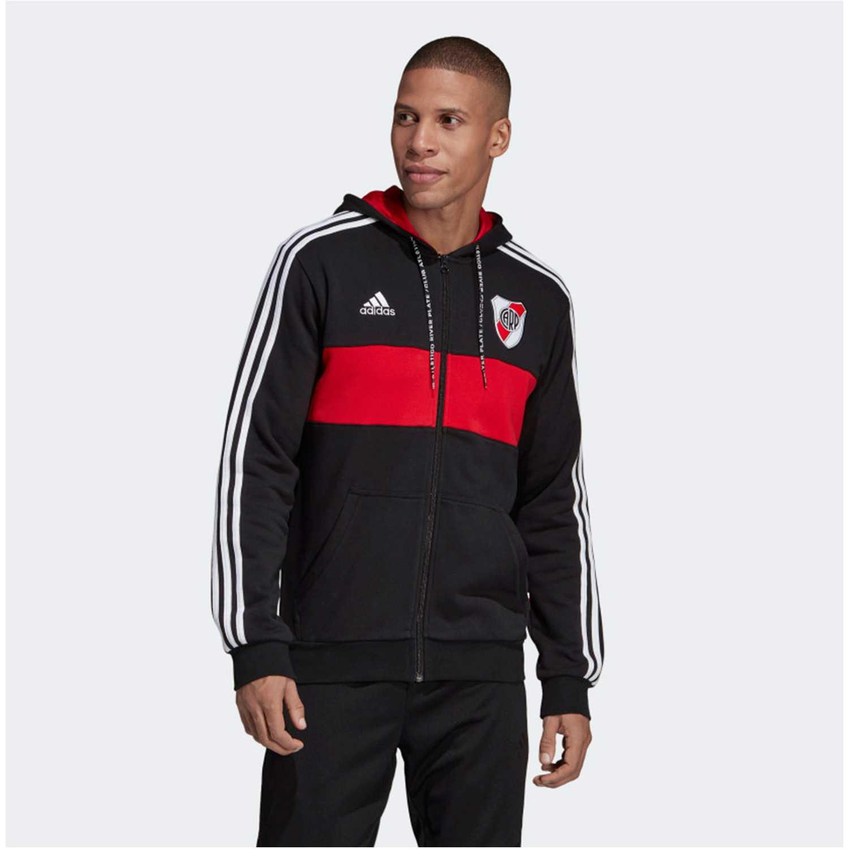 Adidas rp fz hd Negro / rojo Hoodies y Sweaters Fashion