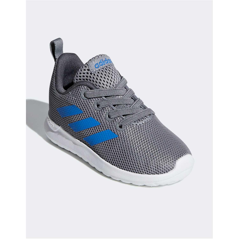 Flat de Mujer Adidas Plomo / azul lite racer cln i