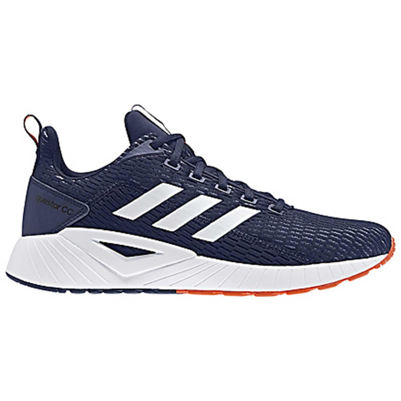 Adidas questar climacool Navy / Blanco Running en pista