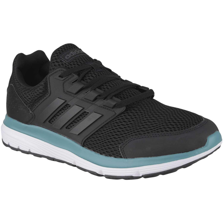 Adidas galaxy 4 Negro / verde Running en pista | platanitos.com