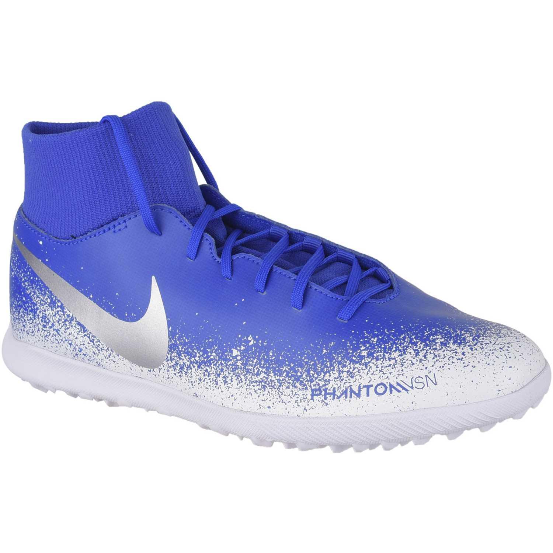 Nike phantom vsn club df tf Azul / blanco Hombres