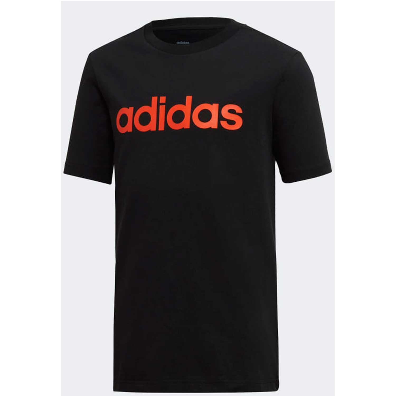 Adidas yb e lin tee Negro / rojo Camisetas y Polos Deportivos