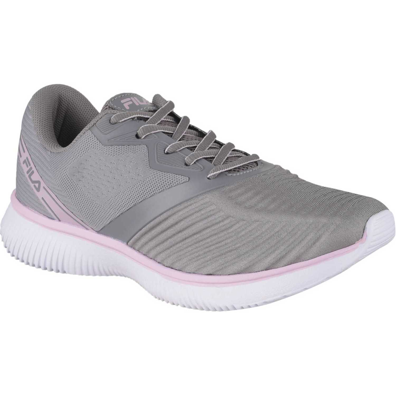 Casual de Mujer Fila Gris / rosado tenis fila course feminino