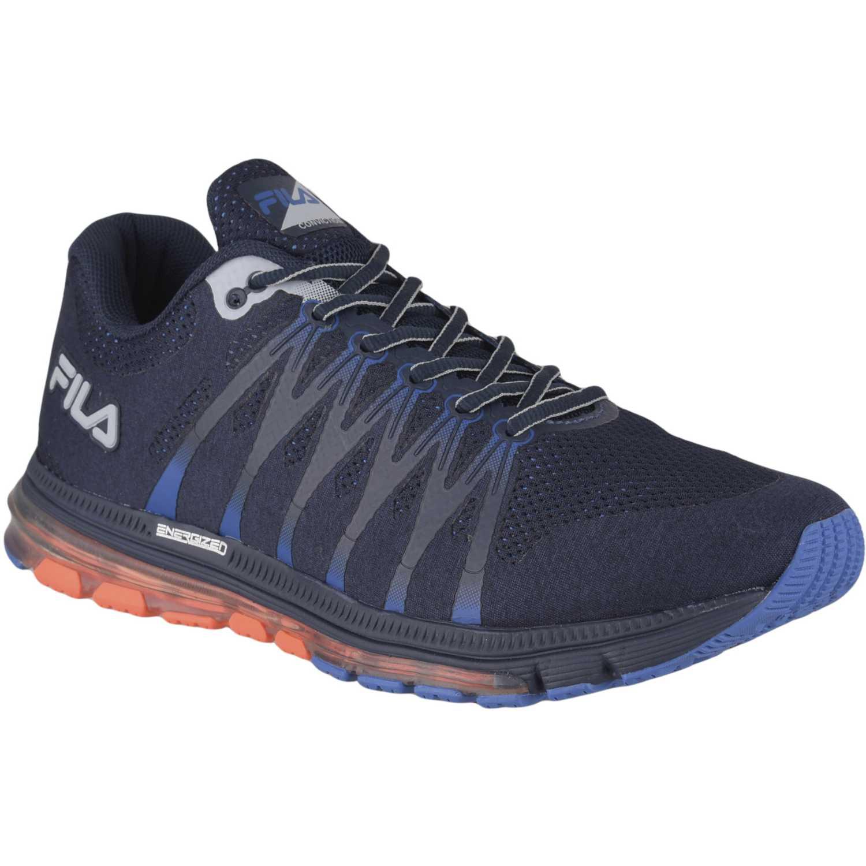 Fila fila conviction Azul / naranja Trail Running