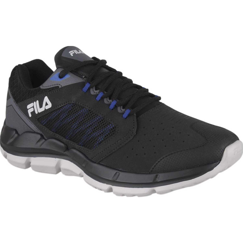 Fila tenis fila sharp sl masculino Negro / azul Running en pista