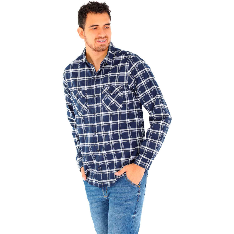 Camisa de Hombre COTTONS JEANS Azul roy