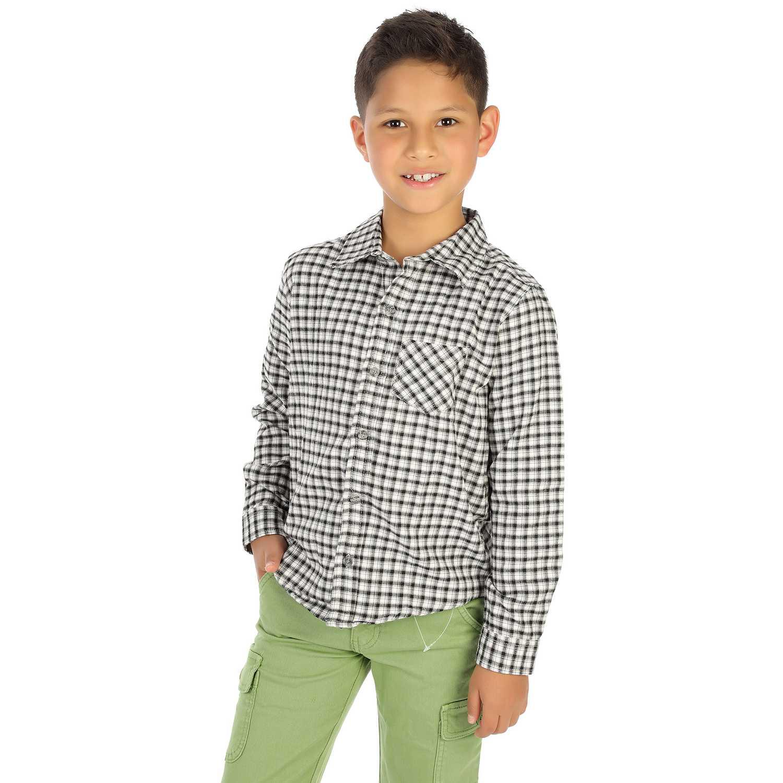 Camisas de Jovencito COTTONS JEANS Negro ernesto