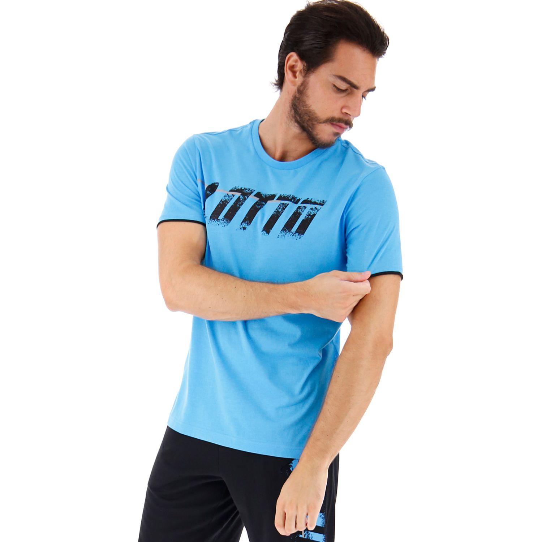 Lotto Logo Tee Js Celeste / negro Camisetas y polos deportivos