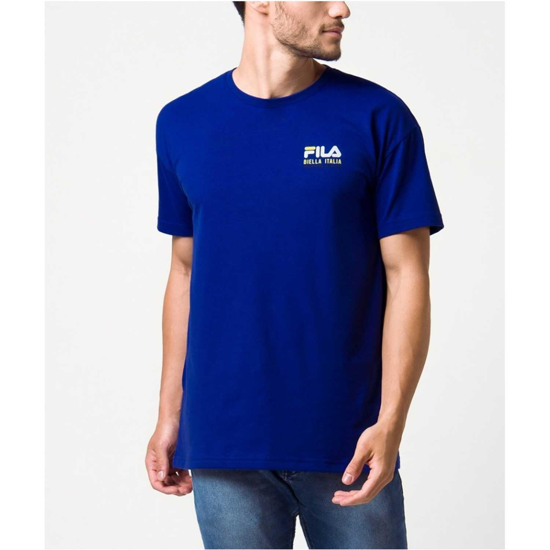 Fila camiseta masc. fila nineteen eleven Azul Camisetas y Polos Deportivos