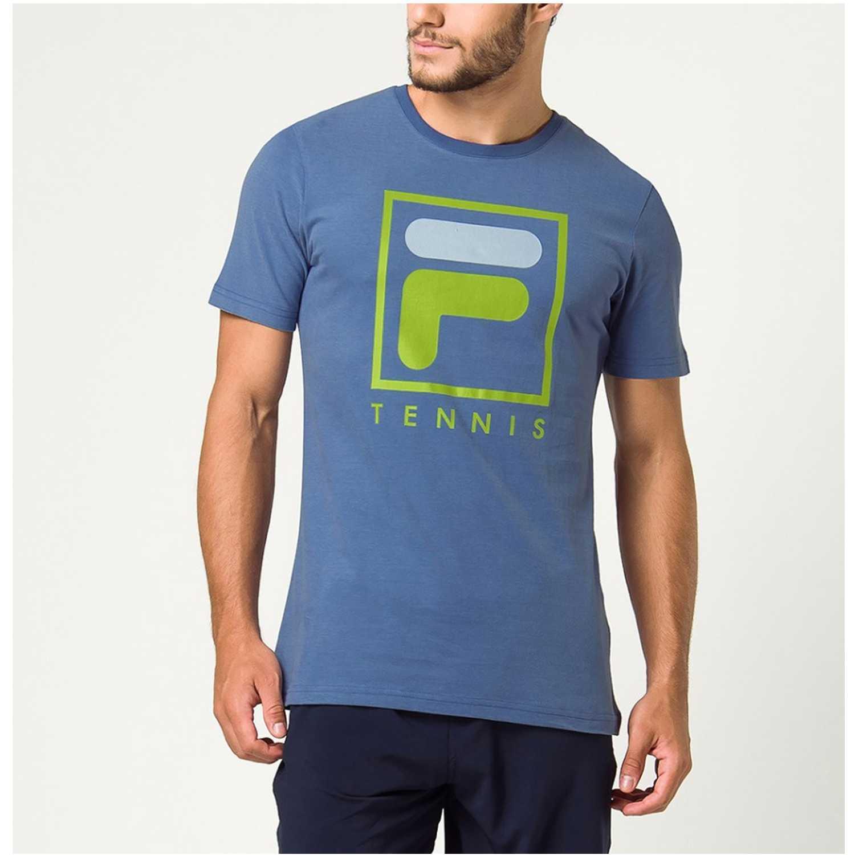 Fila camiseta masc. fila soft urban Azul Camisetas y Polos Deportivos