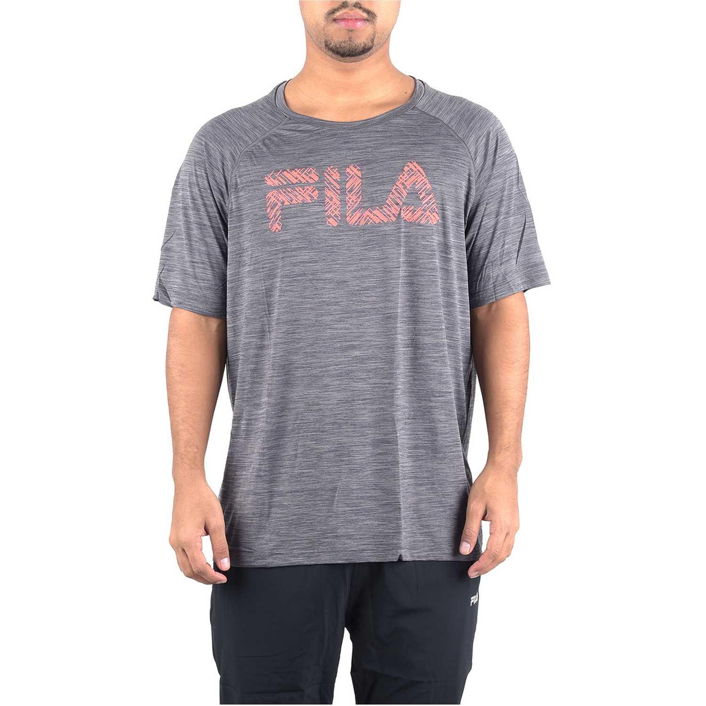 Fila Camiseta Masc. Fila Hybrid Print Plomo Camisetas y polos deportivos