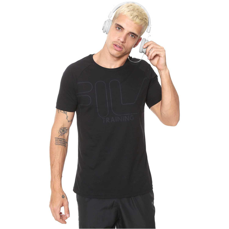 Deportivo de Hombre Fila Negro camiseta masc. fila train essential ii