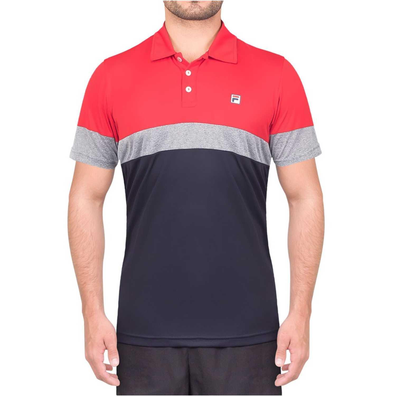 Fila polo masc. fila block melange ii Rojo / azul Camisetas y Polos Deportivos