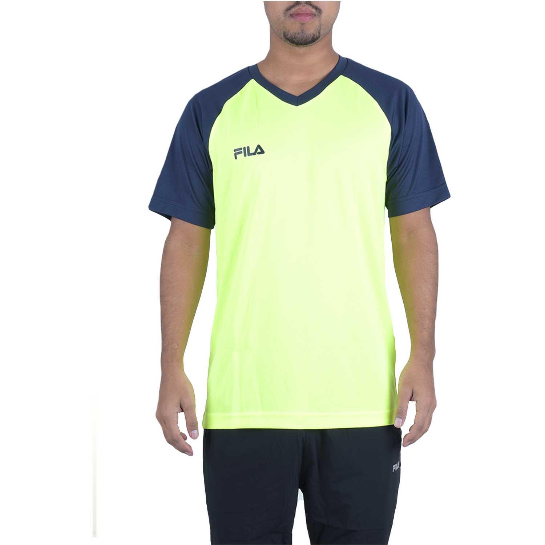 Polo de Hombre Fila Amarillo / azul camiseta masc. fila vitalli ii