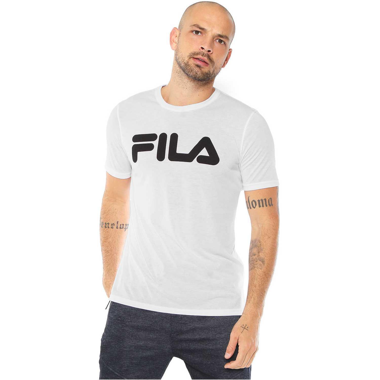 Fila camiseta masc. fila letter train Blanco Polos