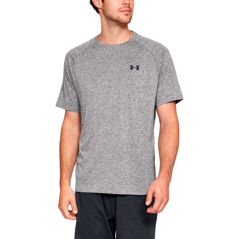 Under Armour ua tech ss tee 2.0 Gris / negro Camisetas y Polos Deportivos
