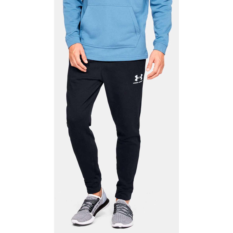 Under Armour sportstyle terry jogger Negro / blanco Pantalones Deportivos