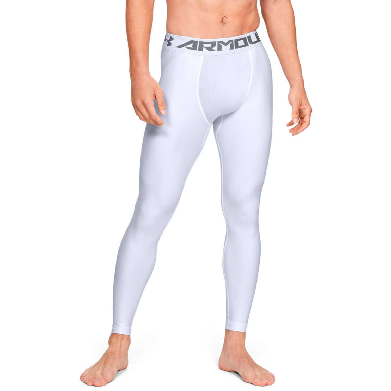 Under Armour hg armour 2.0 legging-wht Blanco / negro Pantalones Deportivos