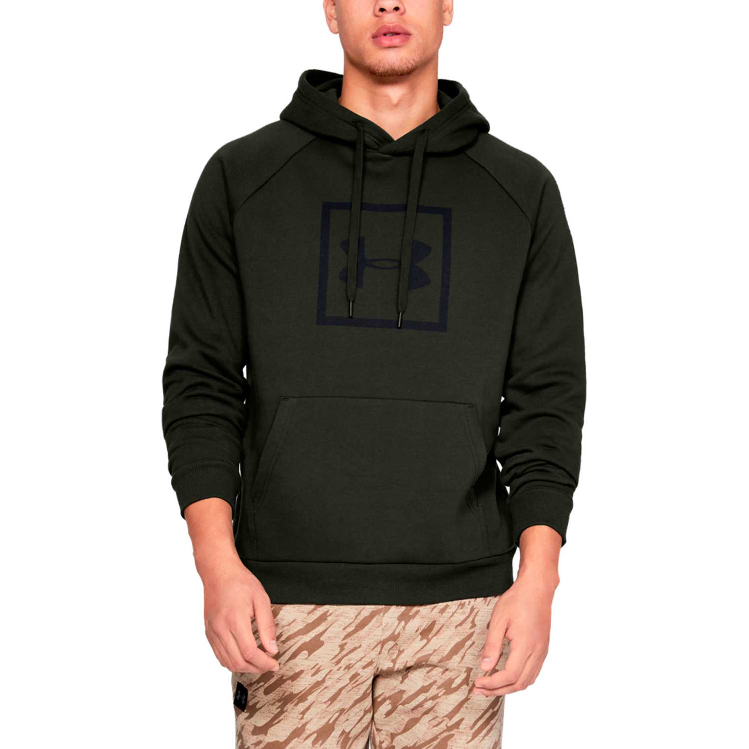 Under Armour rival fleece logo hoodie Militar Hoodies y Sweaters Fashion