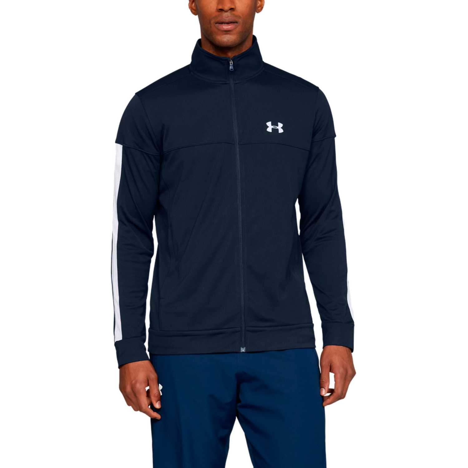 Under Armour sportstyle pique track jacket-nvy Azul / blanco Casacas de Atletismo