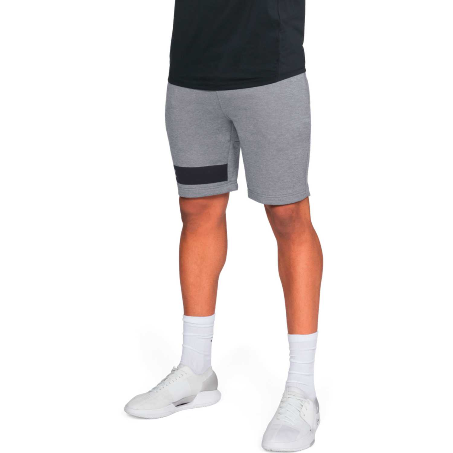 Under Armour mk1 terry short-gry Gris / negro Shorts Deportivos