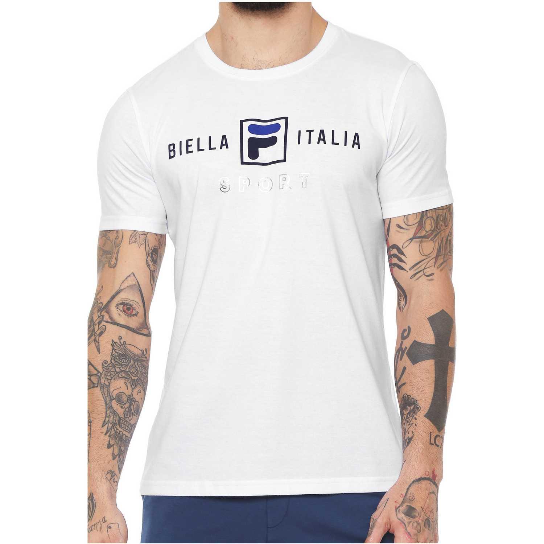 Fila camiseta masc. fila block colors Blanco Polos