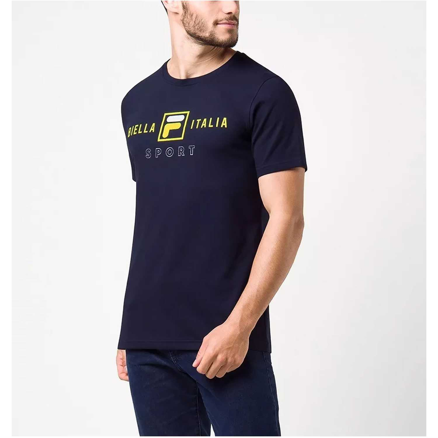 Fila camiseta masc. fila block colors Navy Polos