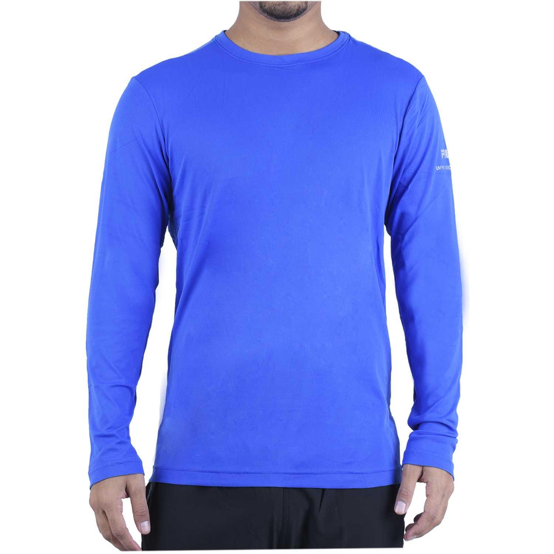 Fila m/l masc. fila basic sunprotec Azul Camisetas y Polos Deportivos