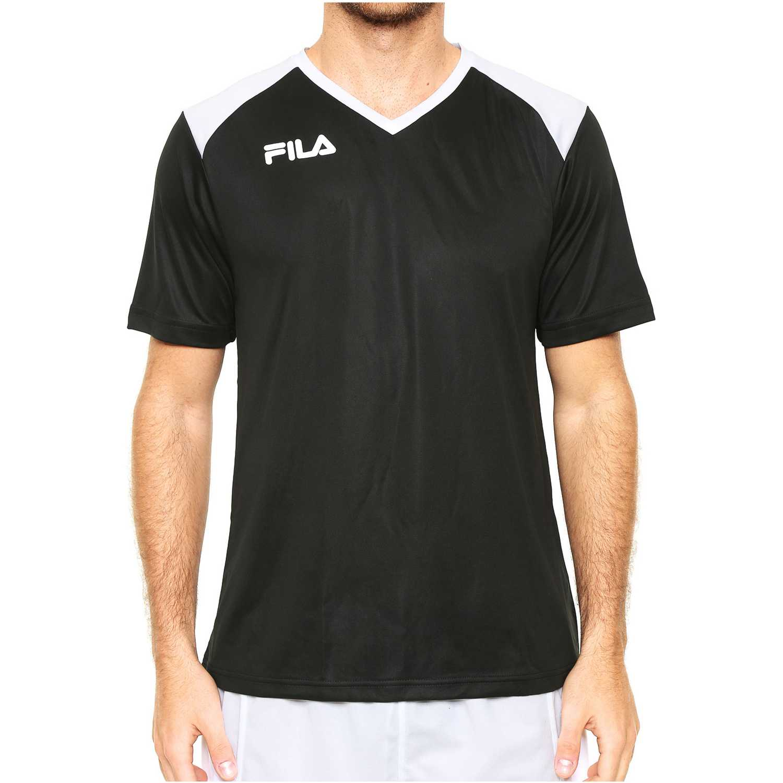 Fila masc. camiseta fila masc accetta ii Negro / blanco Camisetas y Polos Deportivos