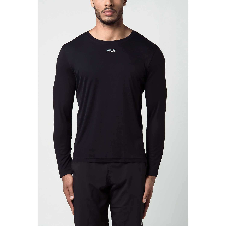 Fila m/l masc. fila basic sunprotec Negro Camisetas y Polos Deportivos