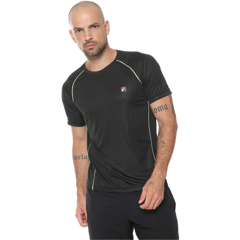 Fila camiseta masc. fila cinci Negro / amarillo Camisetas y Polos Deportivos