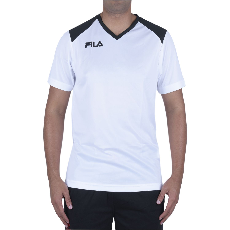 Fila masc. camiseta fila masc accetta ii Blanco / negro Camisetas y Polos Deportivos