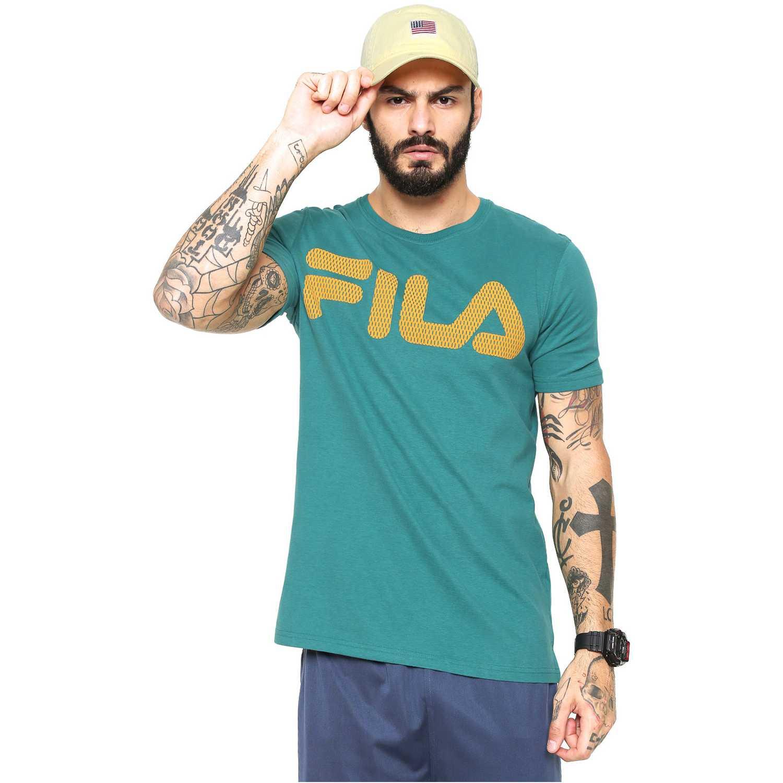 Fila camiseta masc. fila benito evo Verde Camisetas y Polos Deportivos