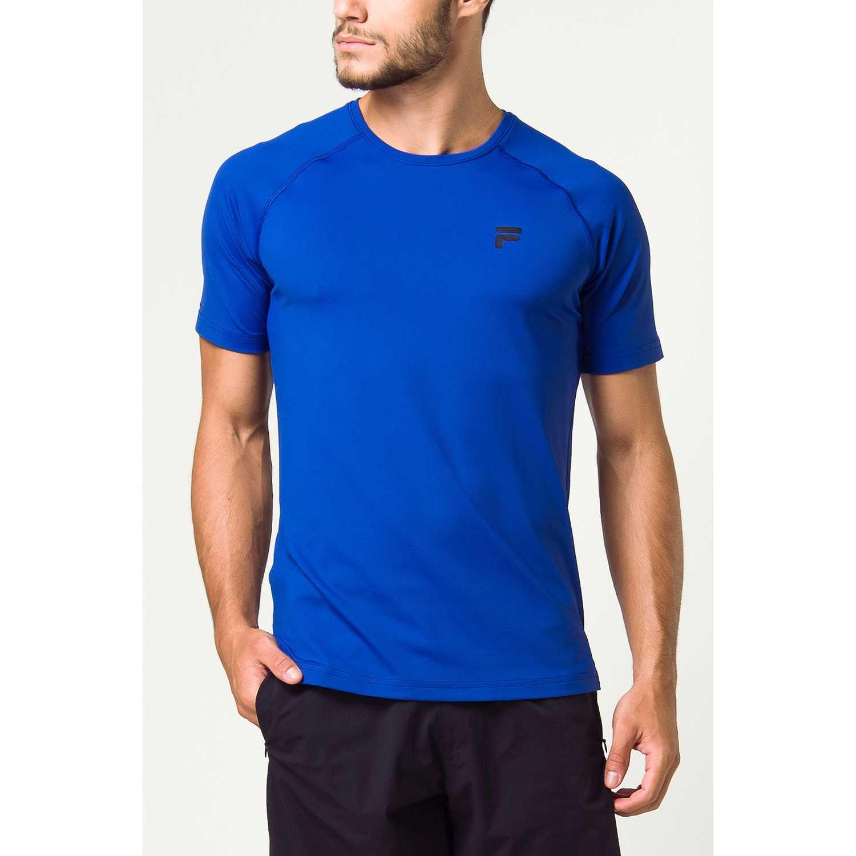Fila Camiseta Masc. Fila Distance Azul Camisetas y polos deportivos