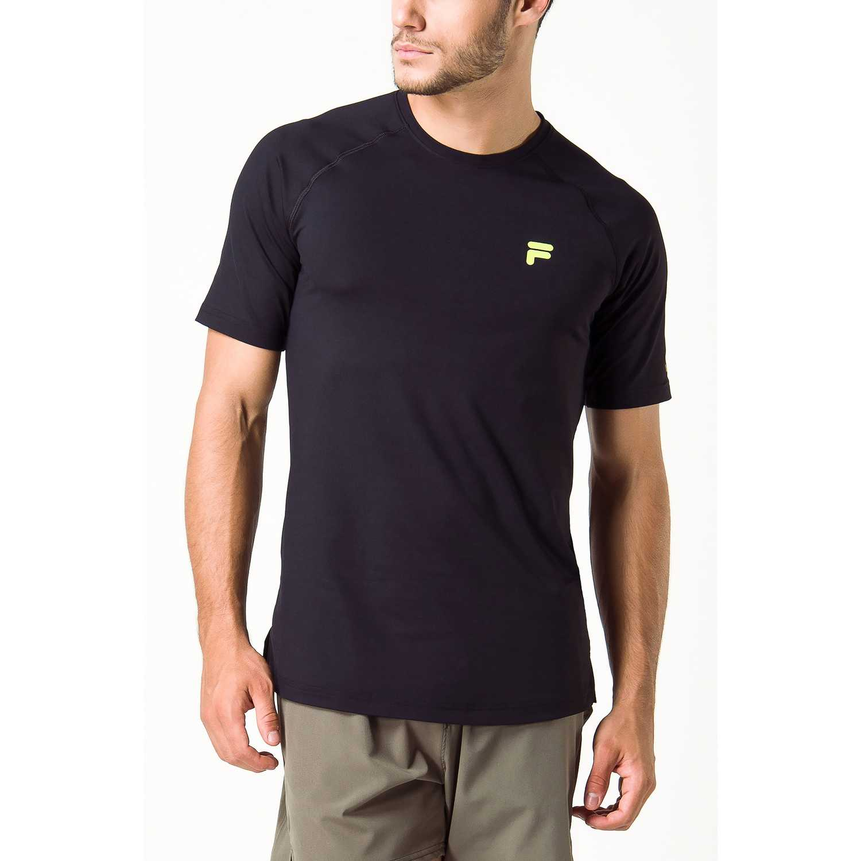 Fila camiseta masc. fila distance Negro Camisetas y Polos Deportivos