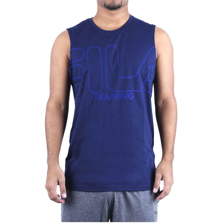 Fila s/m masc. fila train essential ii Navy Camisetas y Polos Deportivos