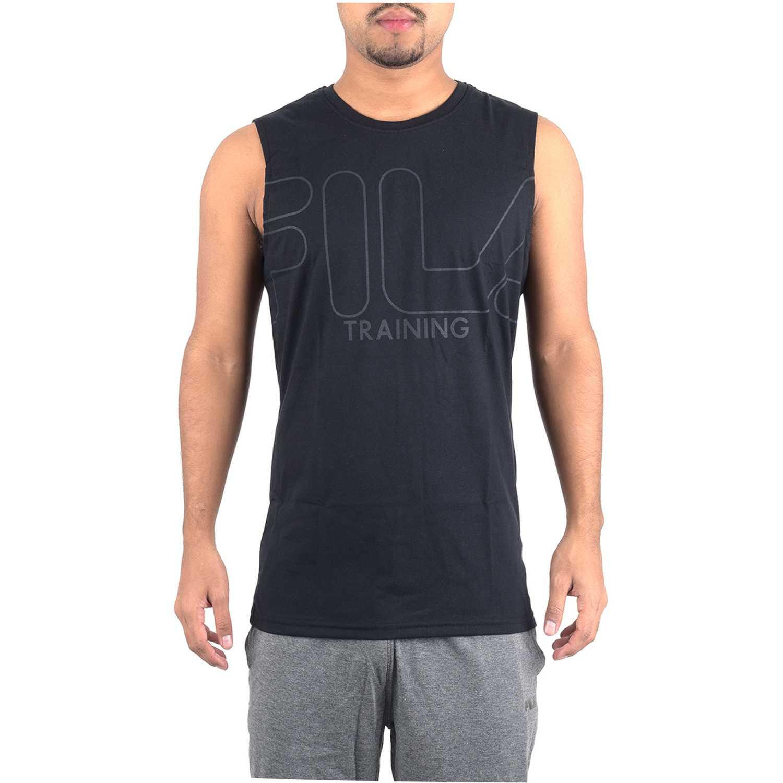 Fila s/m masc. fila train essential ii Negro Camisetas y Polos Deportivos