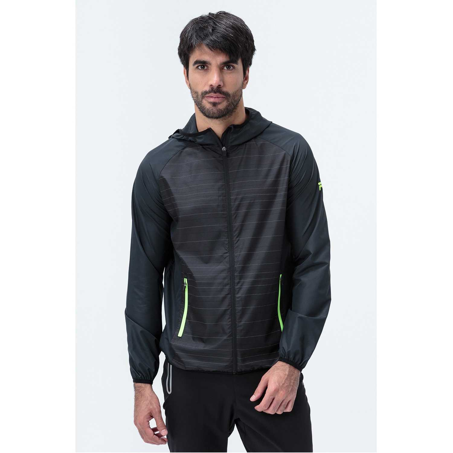 Fila windbreak masc. fila reflective Negro -Capucha