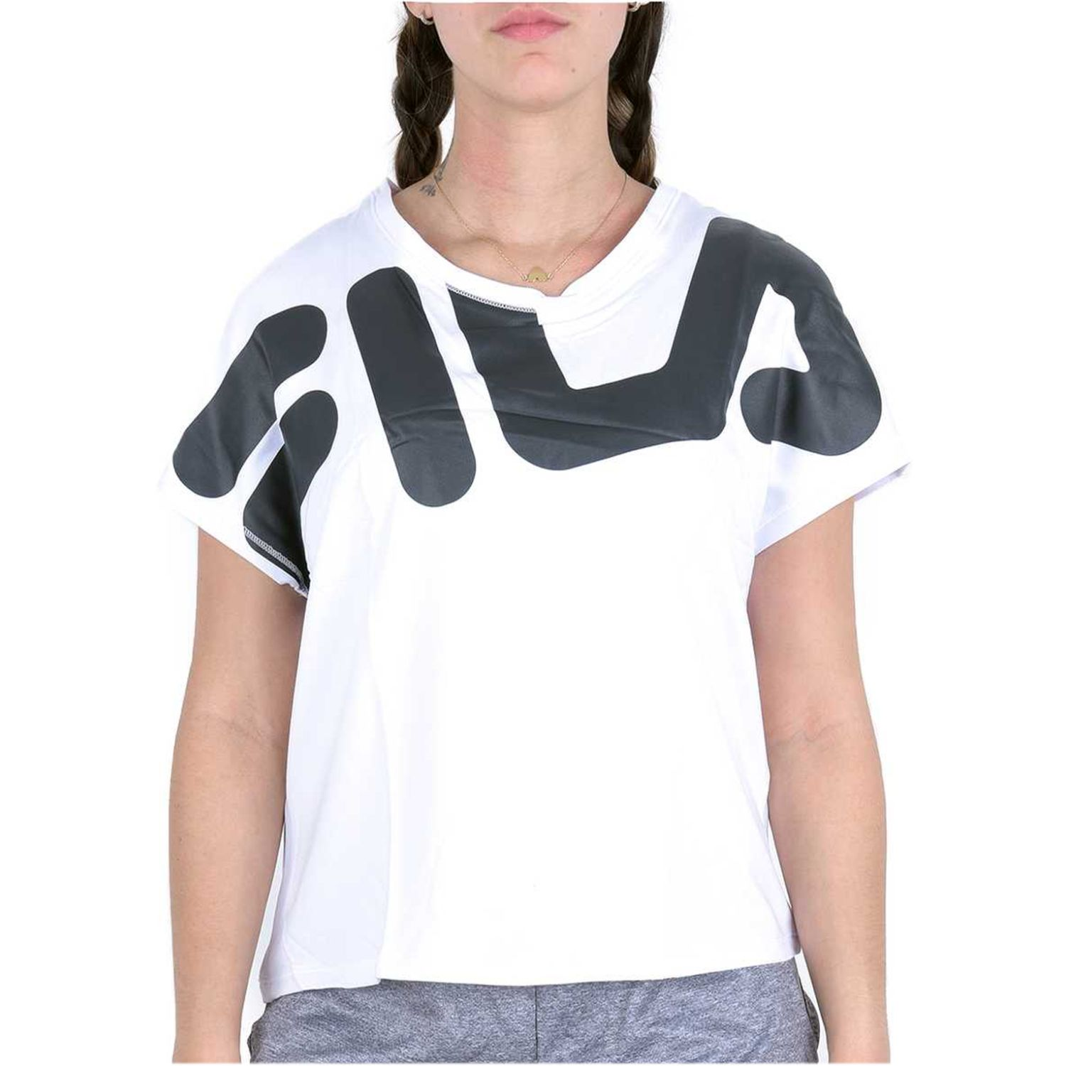 Fila camiseta fem. fila honey Blanco / negro Polos