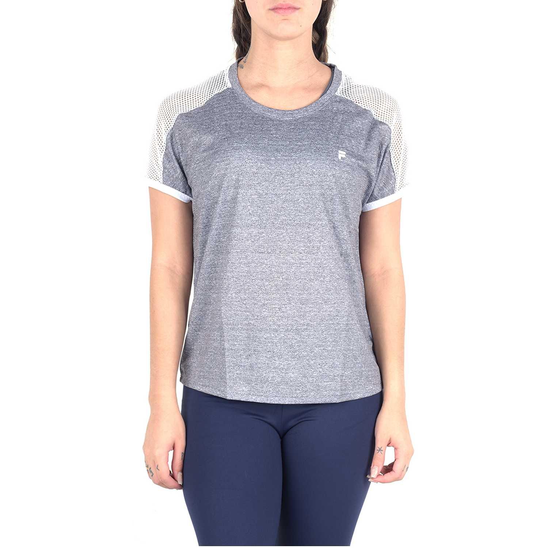 Fila blusa fem. fila mesh Gris / blanco Camisetas y Polos Deportivos