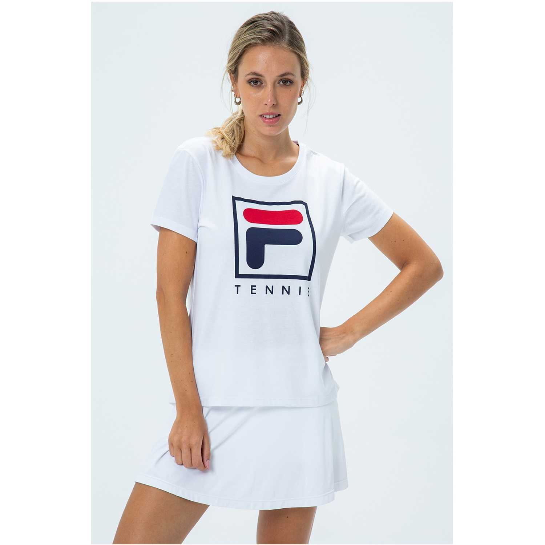 Fila camiseta fem. fila soft urban Blanco / azul Camisetas y Polos Deportivos