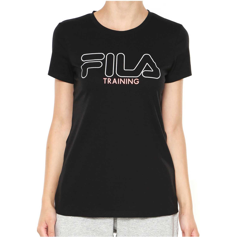 Polo de Mujer Fila Negro camiseta fem. fila train ii