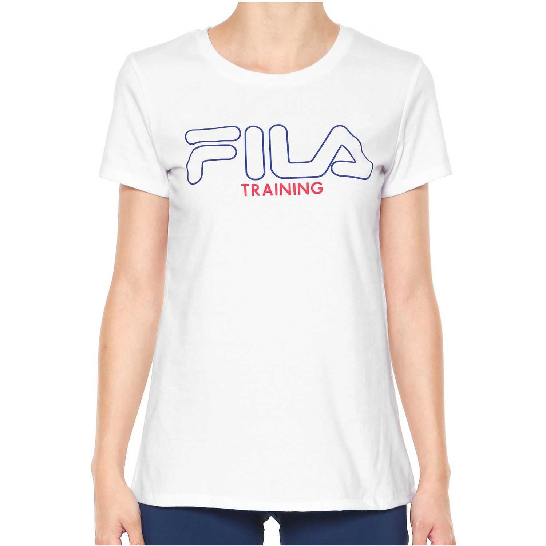 Fila camiseta fem. fila train ii Blanco Camisetas y Polos Deportivos