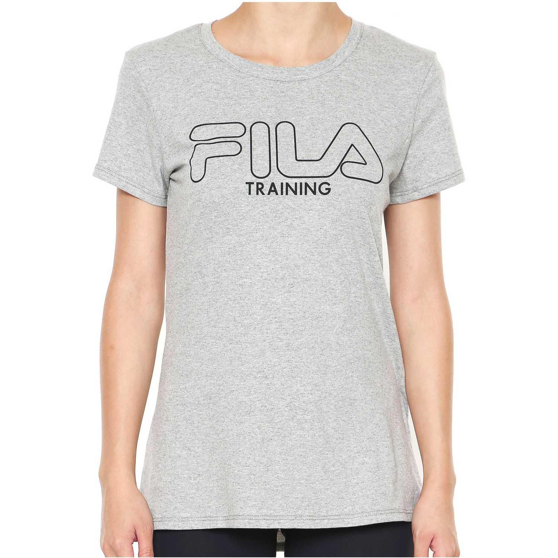 Polo de Mujer Fila Gris camiseta fem. fila train ii
